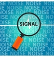 signal to noise ratio find right information above vector image vector image