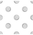 spiral cake icon outline style vector image