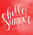 Summer Typography Lettering vector image