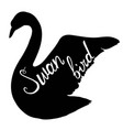 swan silhouette vector image
