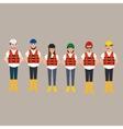 team construction worker wearing helmet vector image
