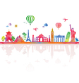 Travel and tourism banner with architecture vector image vector image