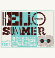 typographic summer party grunge retro poster vector image vector image