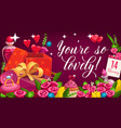 valentines love and passion holiday vector image vector image