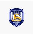 volleyball club badge logo-11 vector image vector image