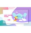 winter season website landing page cute girl in vector image vector image