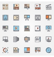 Video production icons set vector image