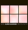 pink abstract blurred background set vector image