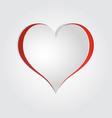 3d realistic paper cut heart card mock up