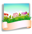 A village with a signage vector image vector image