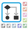 algorithm flowchart framed icon vector image vector image