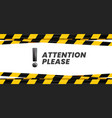 attention please banner important message danger vector image vector image