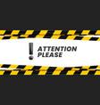 attention please banner important message danger vector image