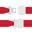 aviation seat belt icon vector image vector image