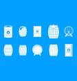 barrel icon blue set vector image