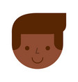 black man avatar character vector image