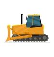 Bulldozer in Flat Design vector image vector image