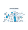 business learning online education training vector image vector image