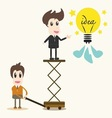 business man catching a light bulb vector image vector image
