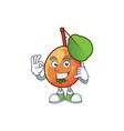 call me shipova fruit cartoon on white background vector image vector image