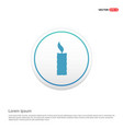 candle icon hexa white background icon template vector image