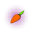 Carrot icon in comics style vector image vector image