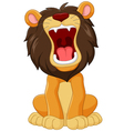 Cartoon happy lion roaring isolated vector image vector image