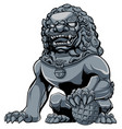 chinese lion iron vector image