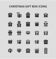 christmas gift box icons vector image