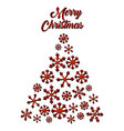 christmas greeting card with christmas tree vector image vector image