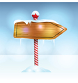 Christmas Holiday Wooden Sign vector image vector image