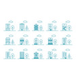 city neighborhood office business building vector image