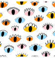 colorful abstract eyes seamless pattern vector image