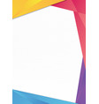 colorful triangle frame border vector image