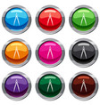 compass for drawing and delineation set 9 vector image vector image