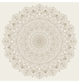 Complex detailed mandala - round ornament vector image vector image