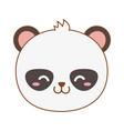 cute bear panda in trunk woodland character vector image vector image