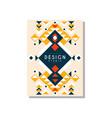 design ethnic style ethno tribal geometric vector image vector image