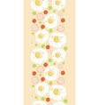 Egg breakfast vertical seamless pattern background vector image