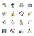 Entertainments Icons Flat vector image vector image