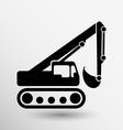 excavator icon button logo symbol concept vector image