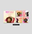 fashion sale banner set vector image vector image