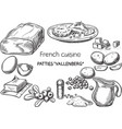 french cusine vector image