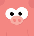 funny fat pig vector image