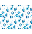 geometric flat snowflake seamless pattern vector image vector image