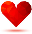 Geometric Red 3d Valentine Heart vector image vector image