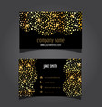 gold circles business card layout 0605 vector image vector image