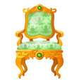 golden fairy tale royal throne with a print in the vector image vector image