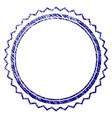 grunge textured rosette seal frame vector image vector image