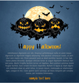 Halloween background with spooky pumpkins vector image vector image